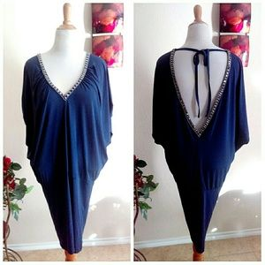 Tunic Dress with V Neck Front & Back